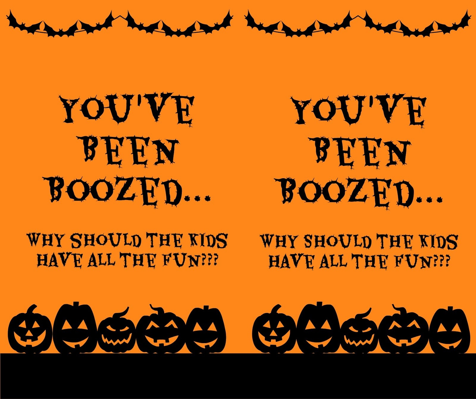The Happy Little Hive: You've Been Boozed [Version 2] - You Ve Been Boozed Free Printable