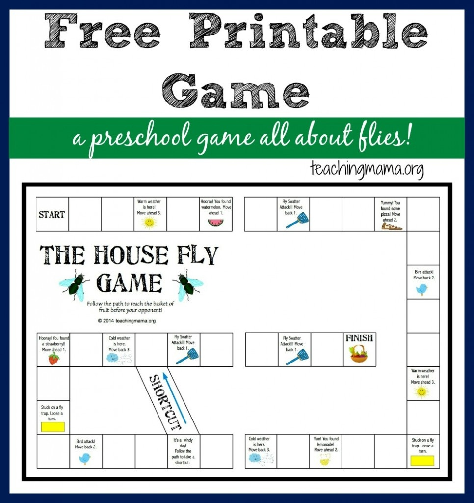 The House Fly Game — Free Printable Game For Preschoolers - Free Printable Games