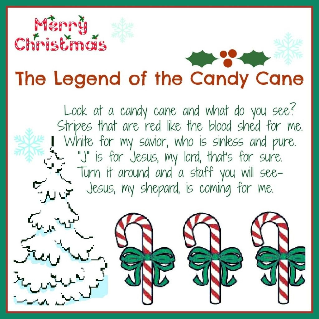 The Legend Of The Candy Cane: Free Printable And A Giveaway - Free Printable Candy Cane Poem