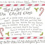 The Legend Of The Candy Cane   Free Printable Tag | Homeschool   Free Printable Candy Cane Poem