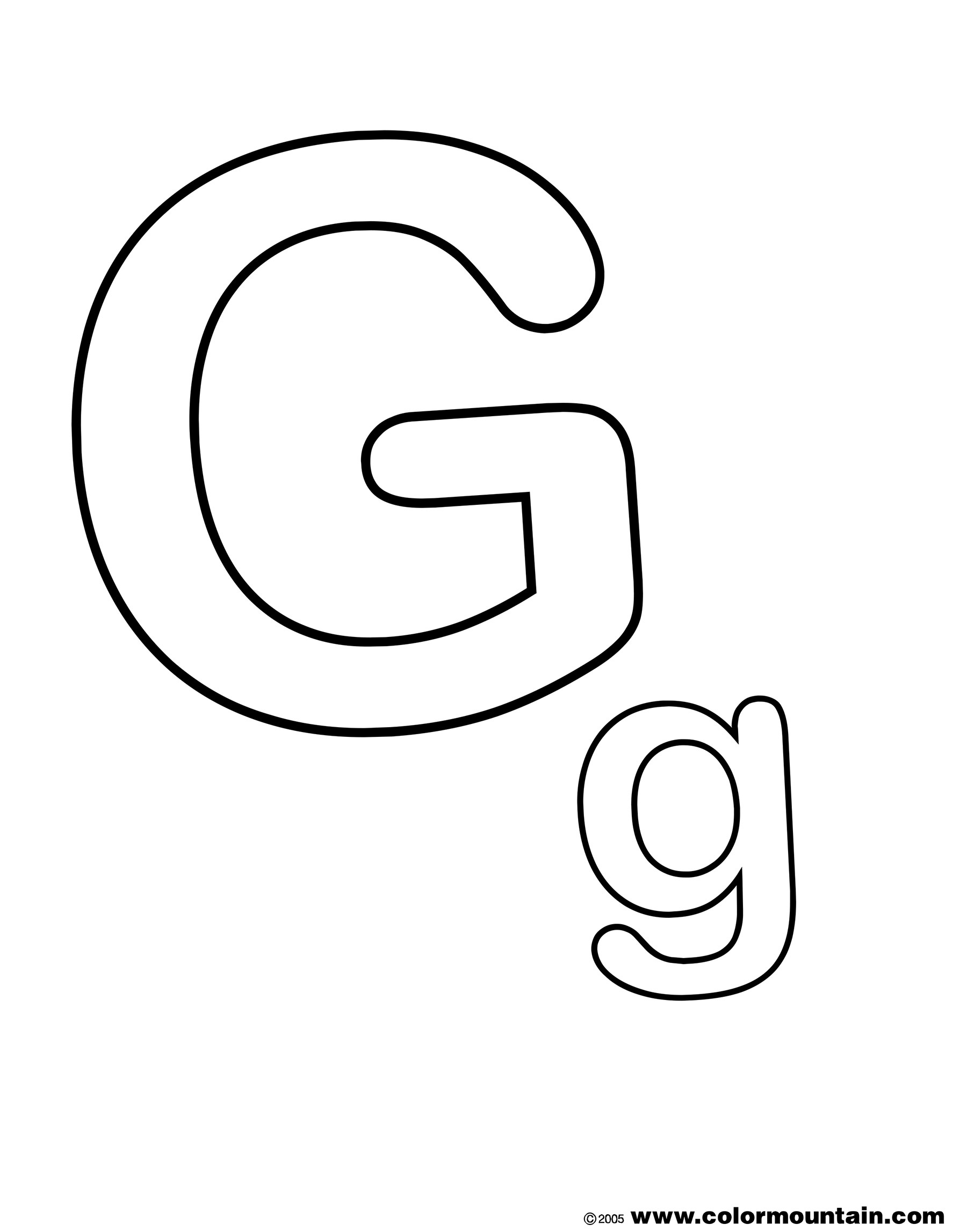 The Letter G Coloring Page - Create A Printout Or Activity - Free Printable Letter G Coloring Pages