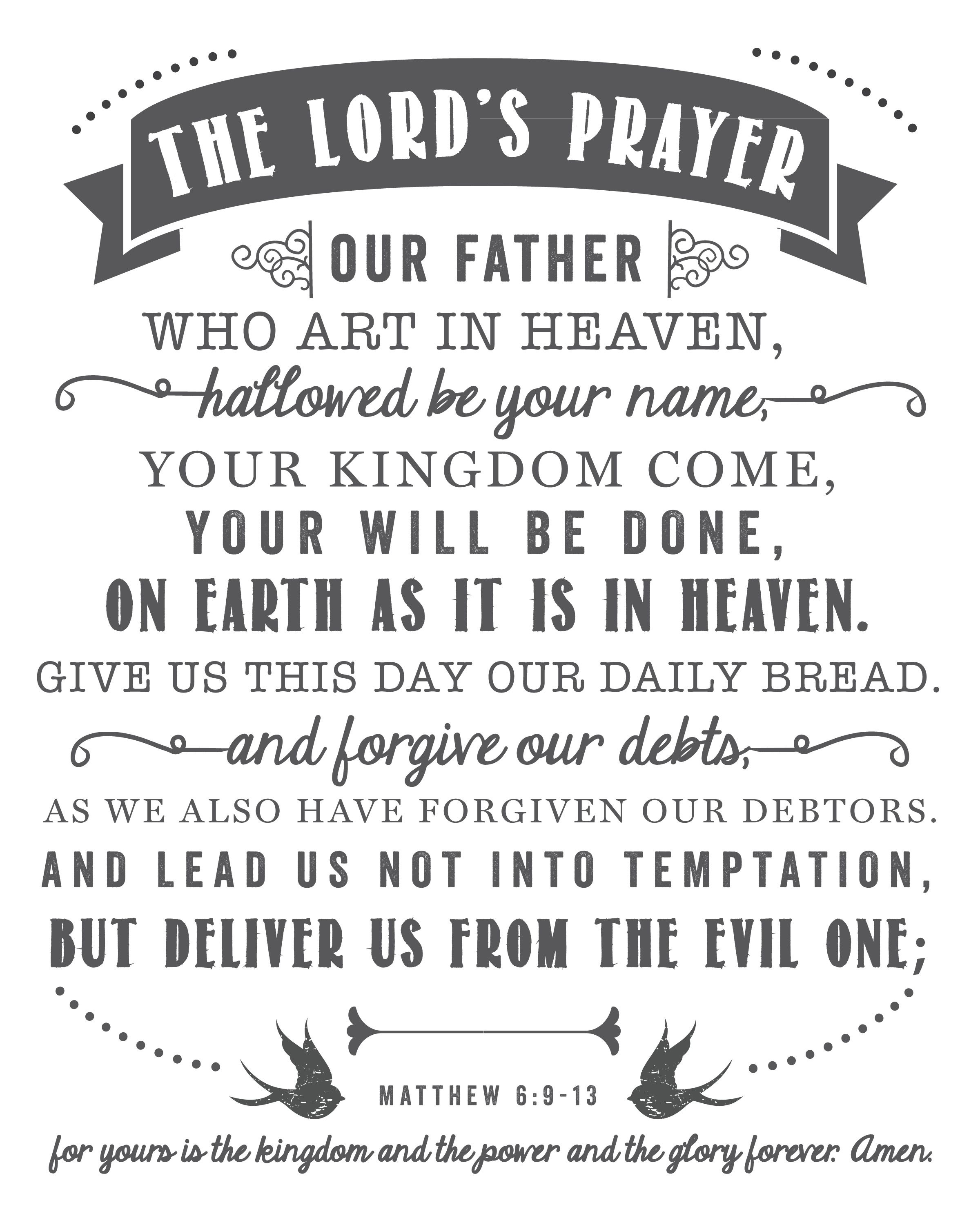 The Lord's Prayer | Free Printables - Printables That Are Free - Free Printable Lord's Prayer Coloring Pages