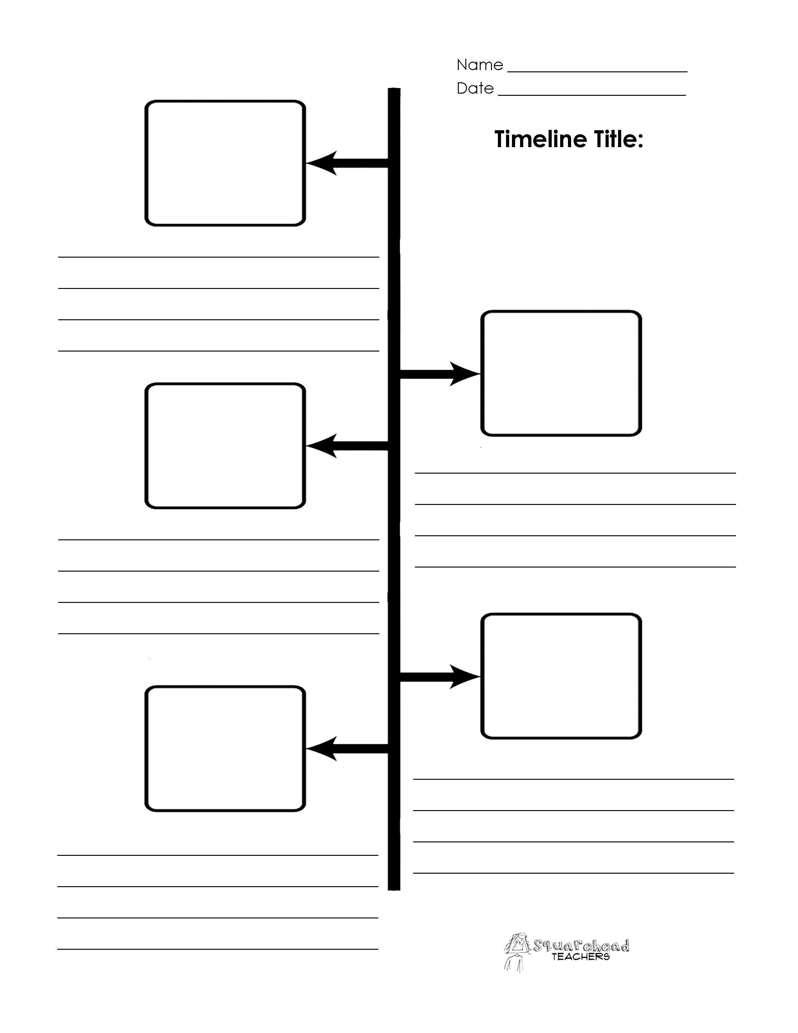 The Matchbox Diary: Social Studies | Sequence Of Events Timeline - Free Printable Sequence Of Events Graphic Organizer