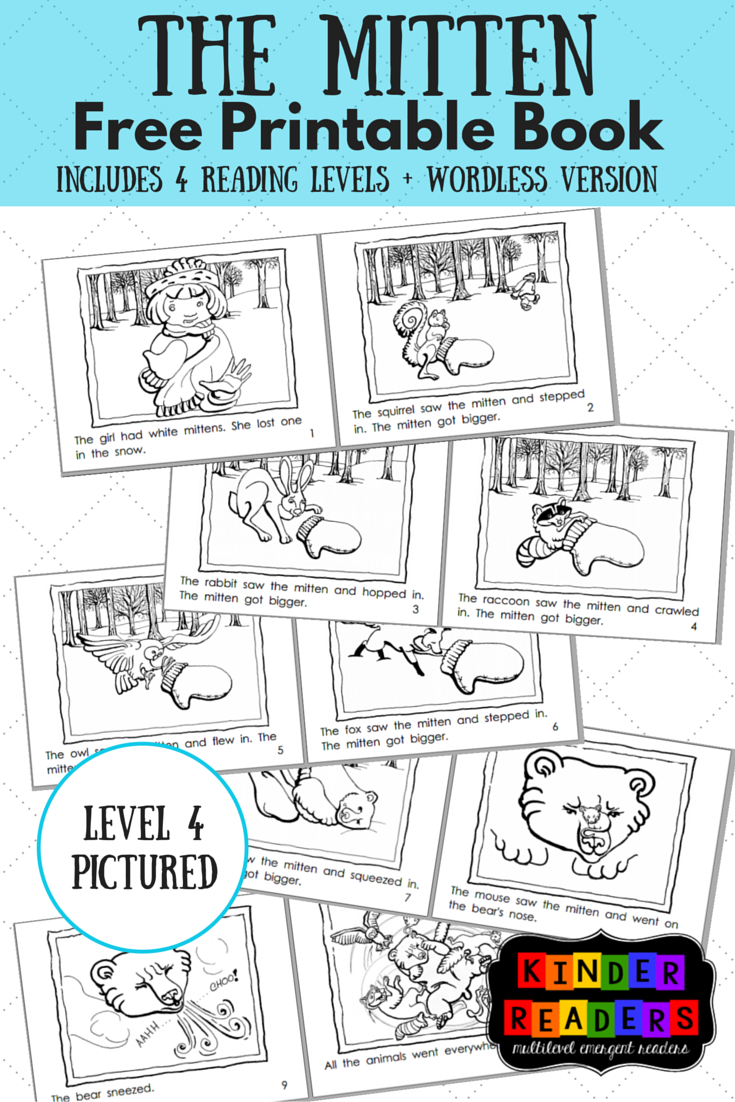 The Mitten Activities To Go With The Book! | Piano & Mt - Free Printable Leveled Readers For Kindergarten
