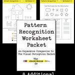 The Pattern Recognition Worksheet Packet   Your Therapy Source   Free Printable Form Constancy Worksheets
