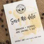 The Perfect Blend Save The Date Card : Free Wedding Invitation   Free Printable Save The Date