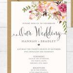 The Surprising Free Printable Wedding Invitation Templates For Word   Free Printable Wedding Invitations