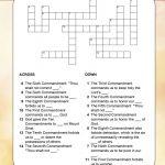 The Ten Commandments Crossword   Free Catholic Ten Commandments Printable
