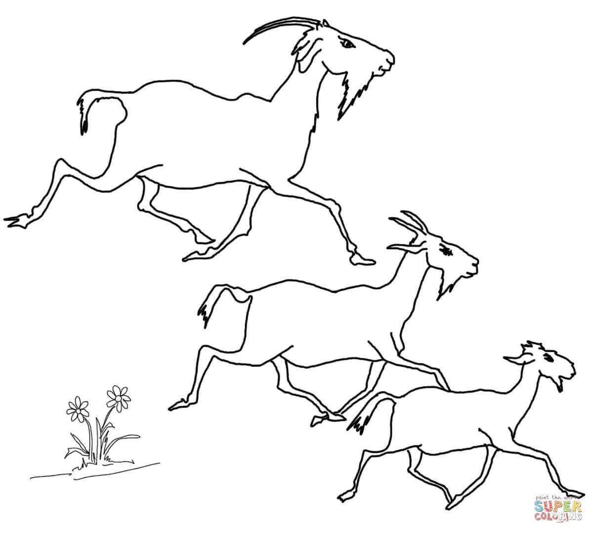 The Three Billy Goats Gruff Coloring Pages - Coloring Home - Three Billy Goats Gruff Masks Printable Free