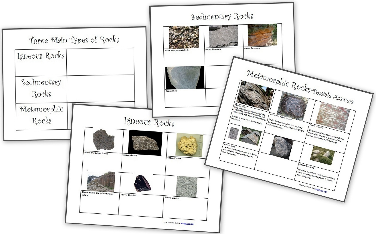 The Three Types Of Rocks- Our Activities And A Free Worksheet Packet - Rock Cycle Worksheets Free Printable