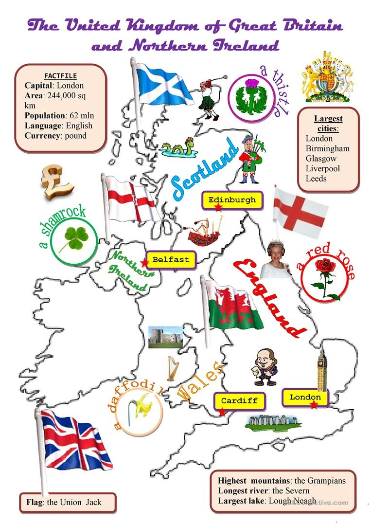 The Uk:map Worksheet - Free Esl Printable Worksheets Madeteachers - Free Printable Worksheets Uk