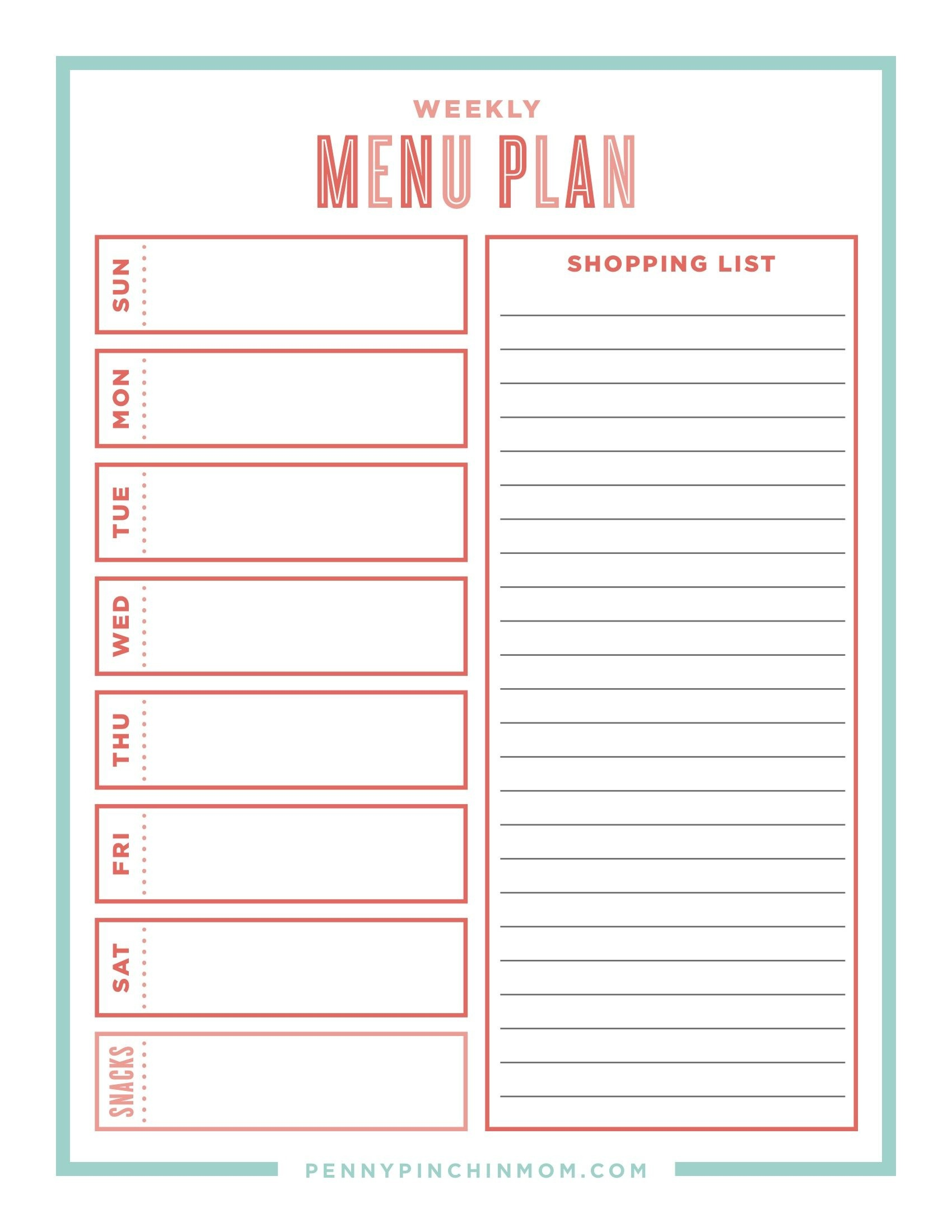 The Ultimate Guide Creating A Workable Meal Plan | Thrifty Thursday - Create A Menu Free Printable