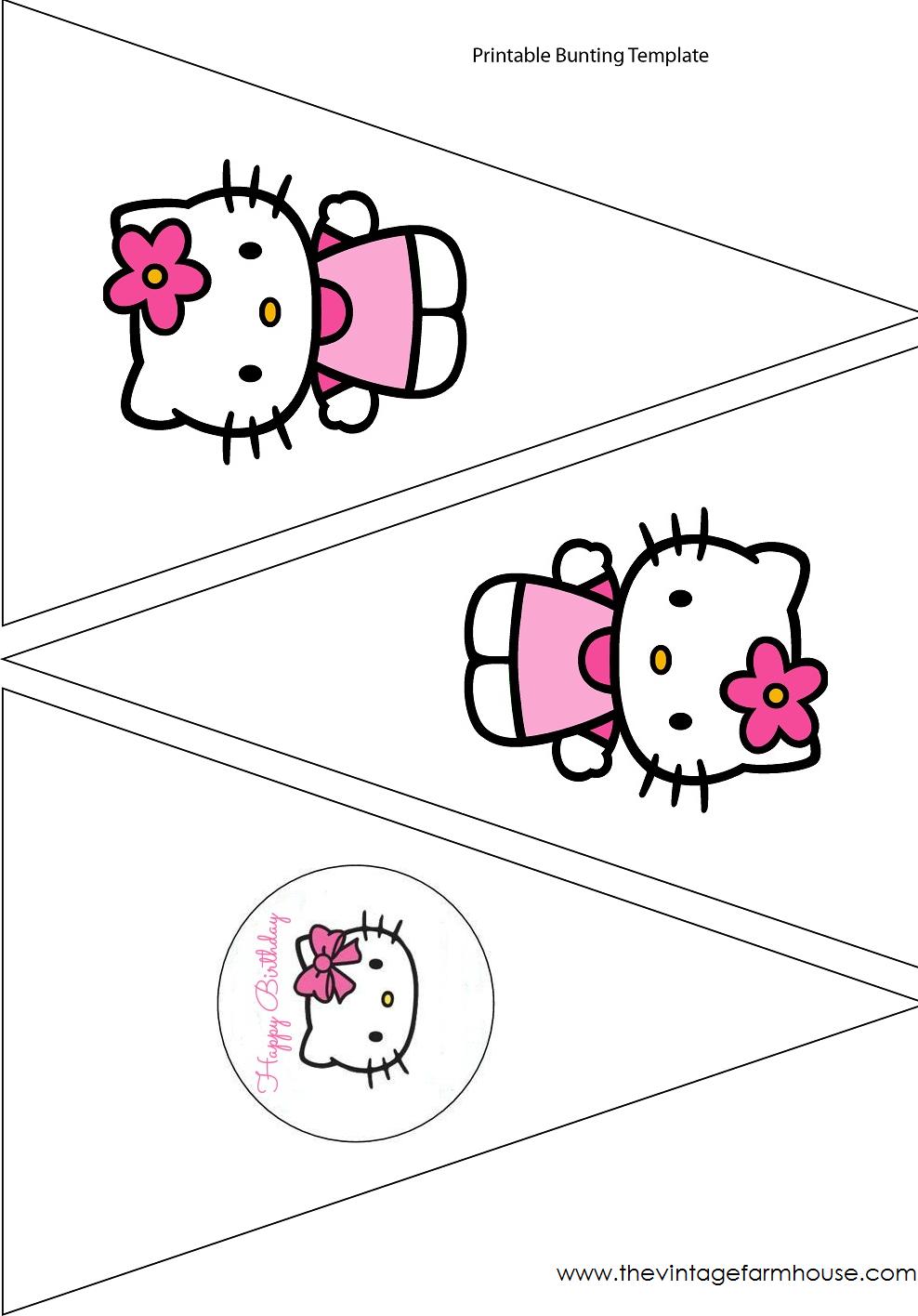 The Vintage Farmhouse: Hello Kitty Party & Free Printables | Hello - Free Printable Hello Kitty Alphabet Letters