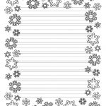 These Free Christmas Printables Are Perfect For Kids' Writing Tasks   Free Printable Writing Paper With Borders