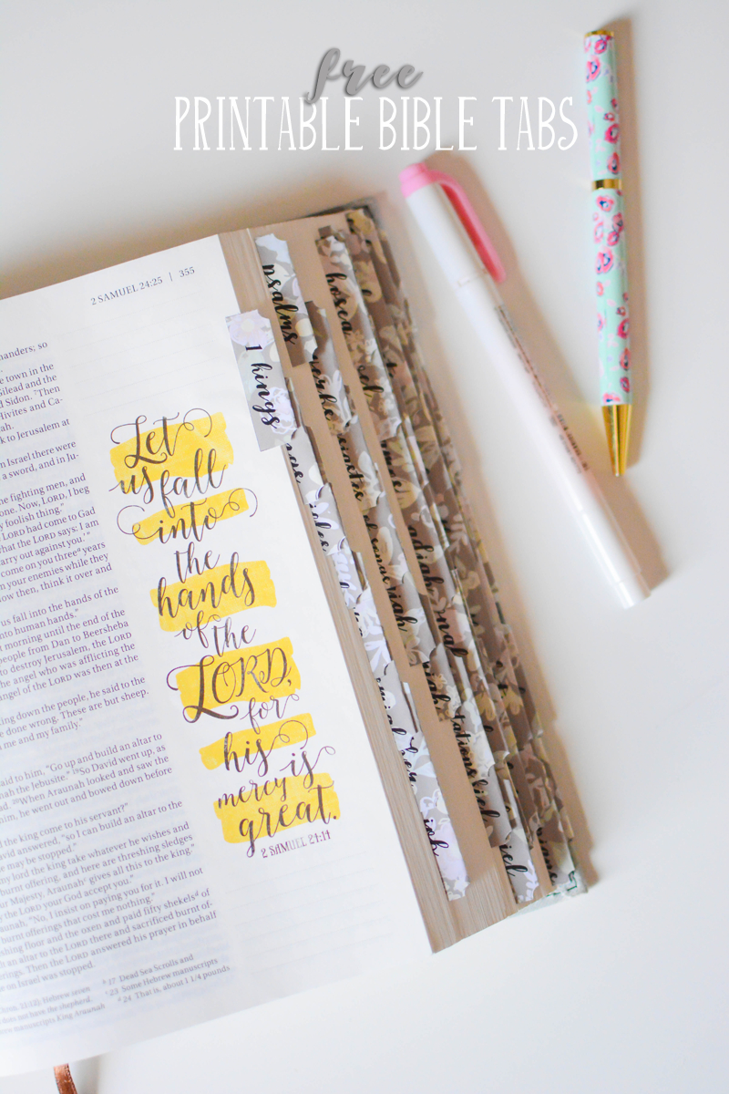 These Free Printable Bible Tabs Come In Two Fonts. Print Them On - Free Printable Bible Tabs