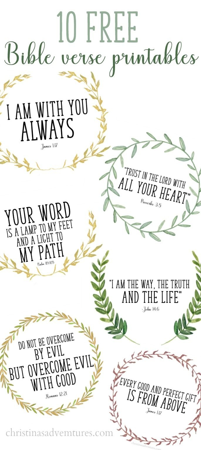These Printable Bible Verses Are Free, And Are Perfect To Help Your - Free Printable Scripture Verses
