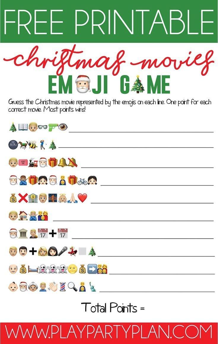 This Free Printable Christmas Emoji Game Is One Of The Most Fun - Free Printable Christmas Games For Adults