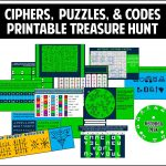 This Printable Treasure Hunt Is All About Ciphers, Puzzles, And   Printable Escape Room Free