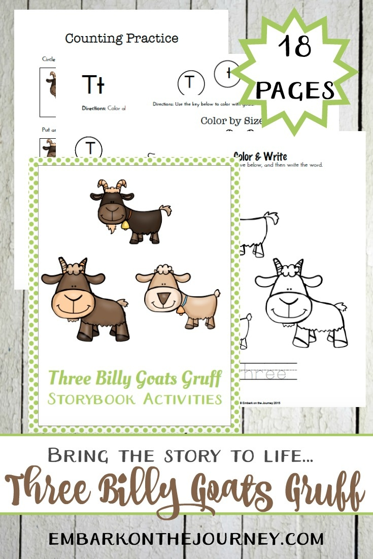Three Billy Goats Gruff Printables And Activities - Embark On The - Three Billy Goats Gruff Masks Printable Free