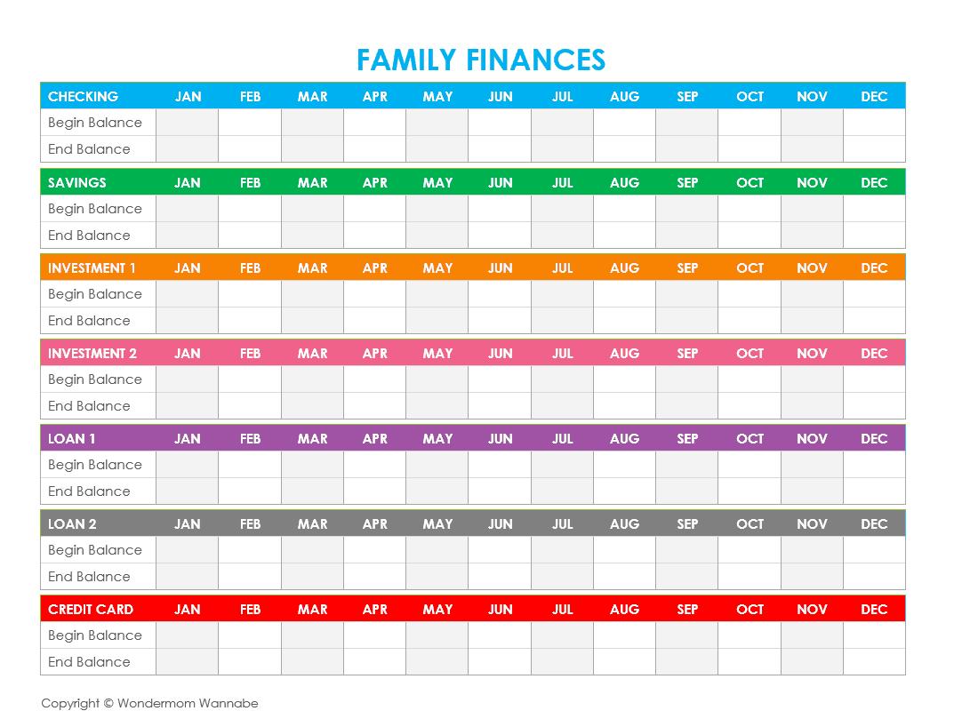 Three Free Printable Family Budget Worksheets To Help You Organize - Free Printable Family Budget