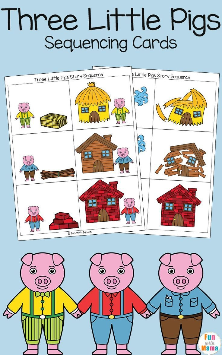 Three Little Pigs Sequencing Cards | Nursery Ryhmes, Folk Tales - Free Printable Cause And Effect Picture Cards