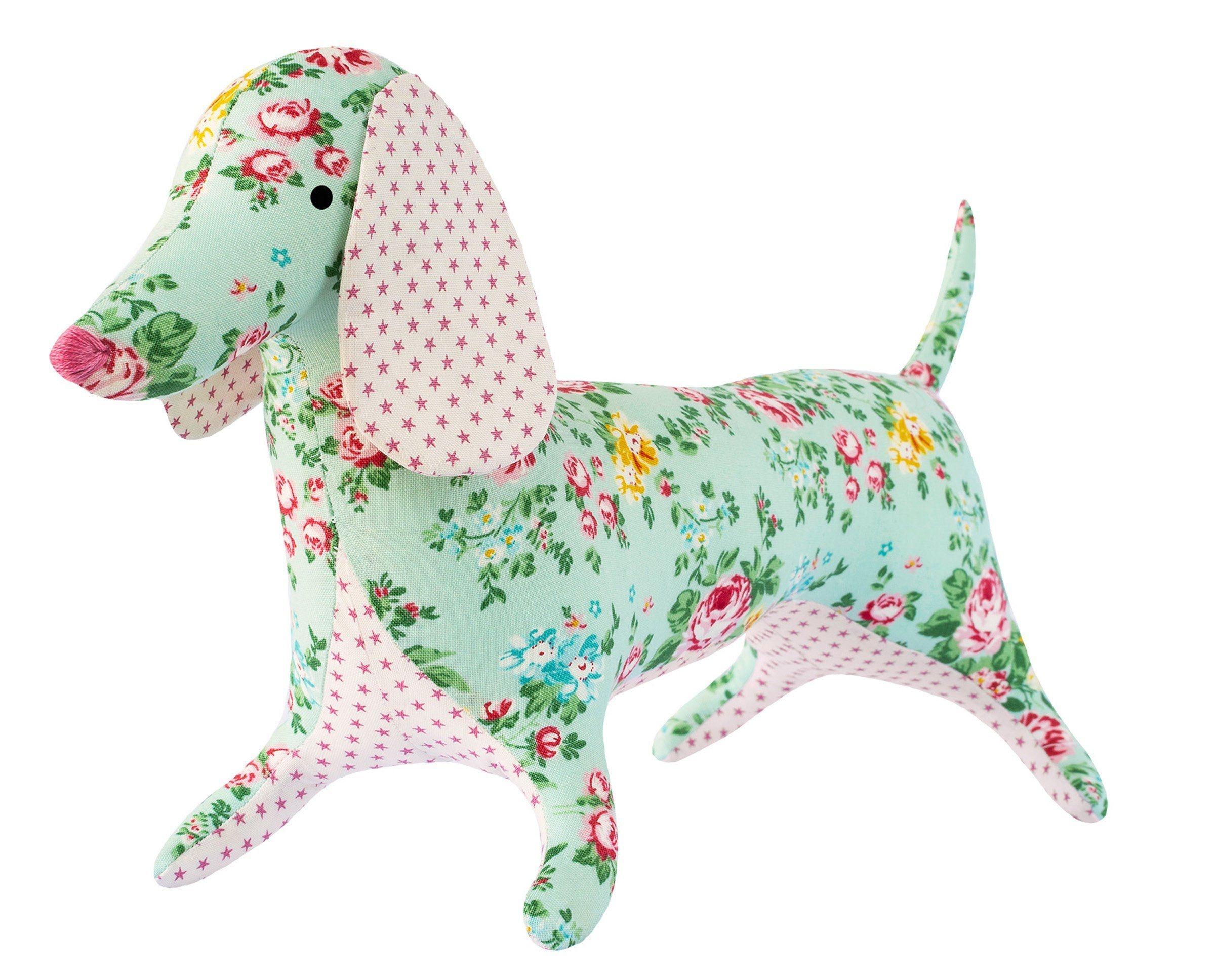 "Tilda Apple Butter Dapper Dachshund Sewing Kit | 24"" Tall | Tilda - Free Printable Dachshund Sewing Pattern"