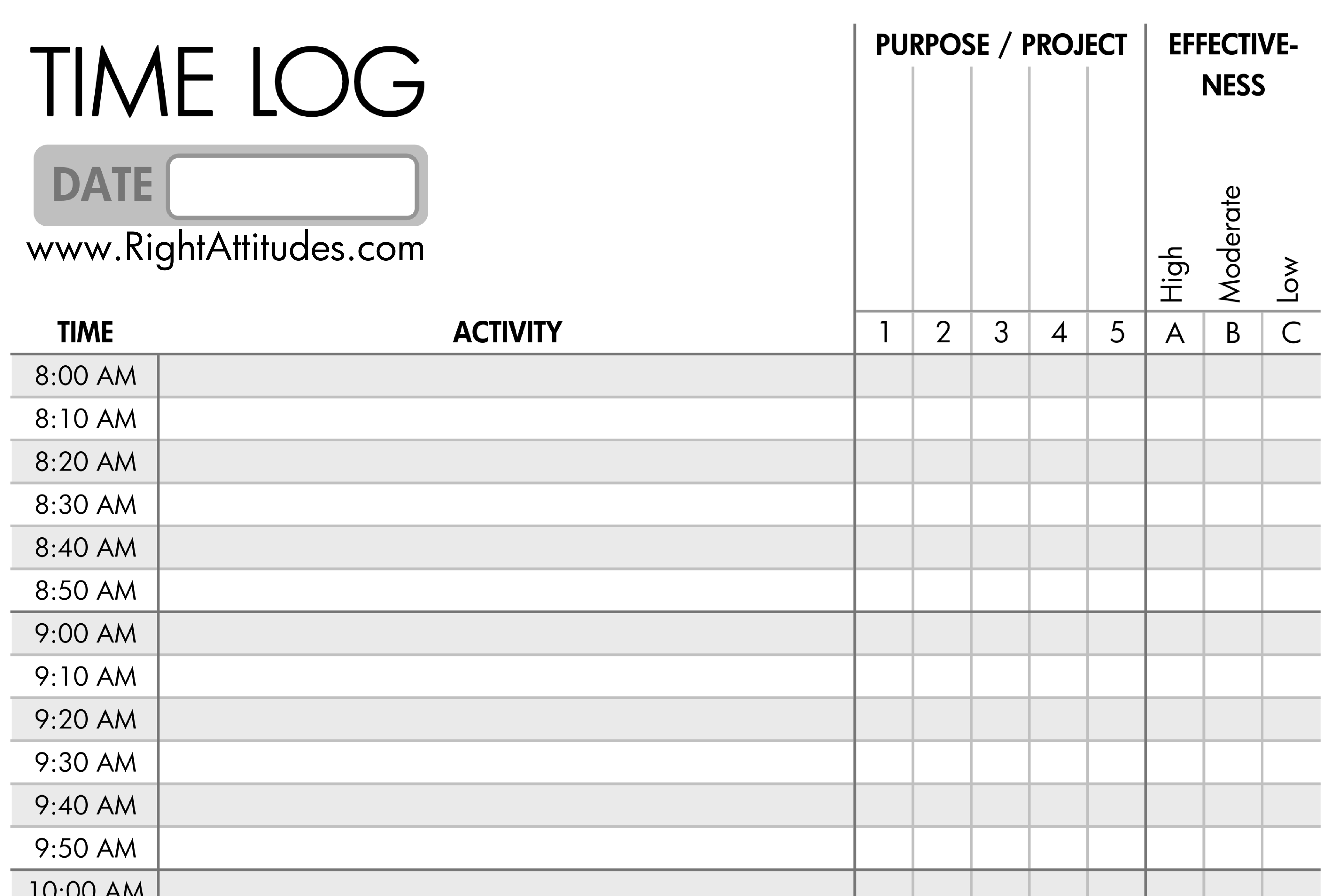 Time Management Diary Template - Tutlin.psstech.co - Time Management Forms Free Printable
