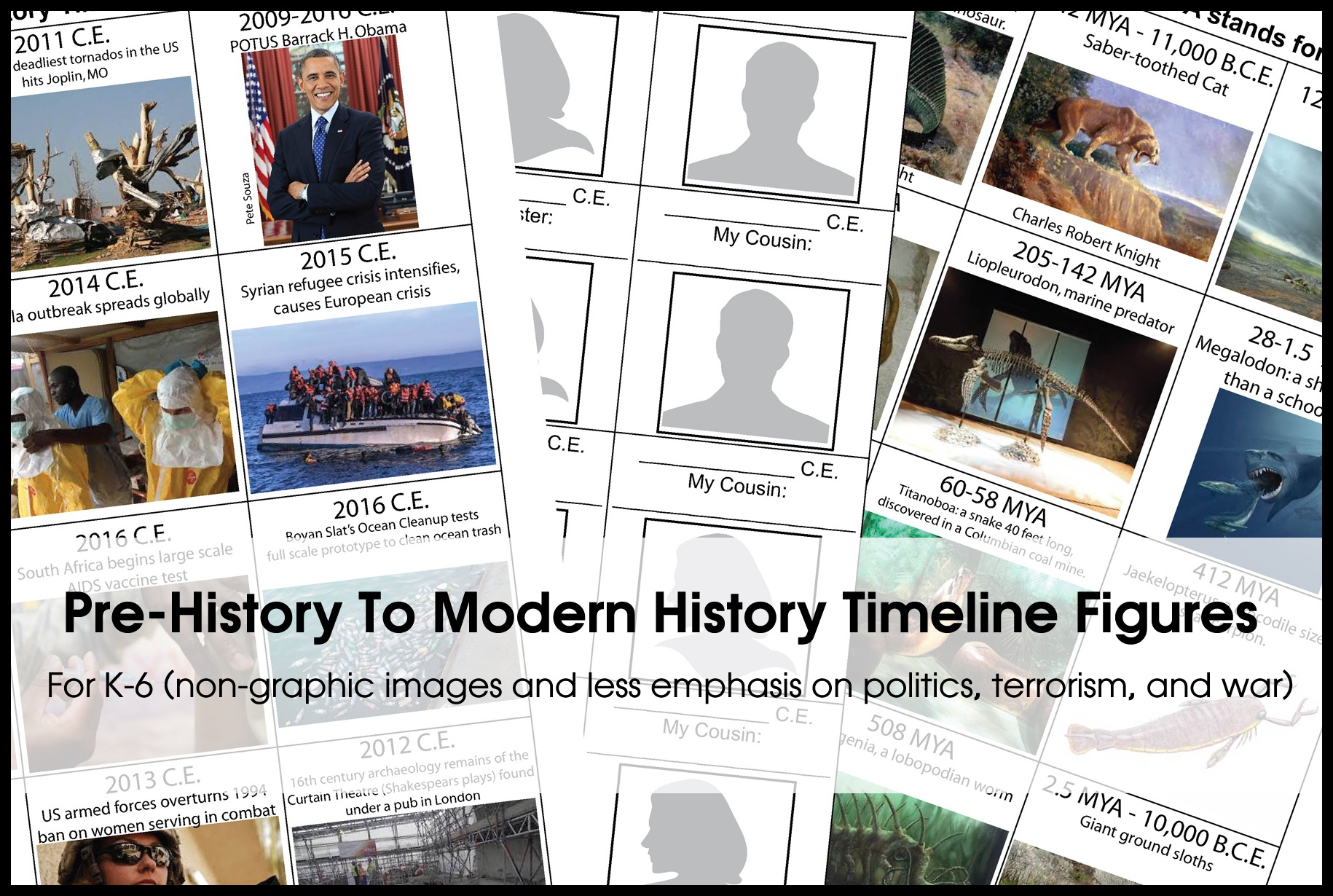 Timeline Figures For K-6: Free Printable ~ Homeschooling2E - Free Printable Timeline Figures