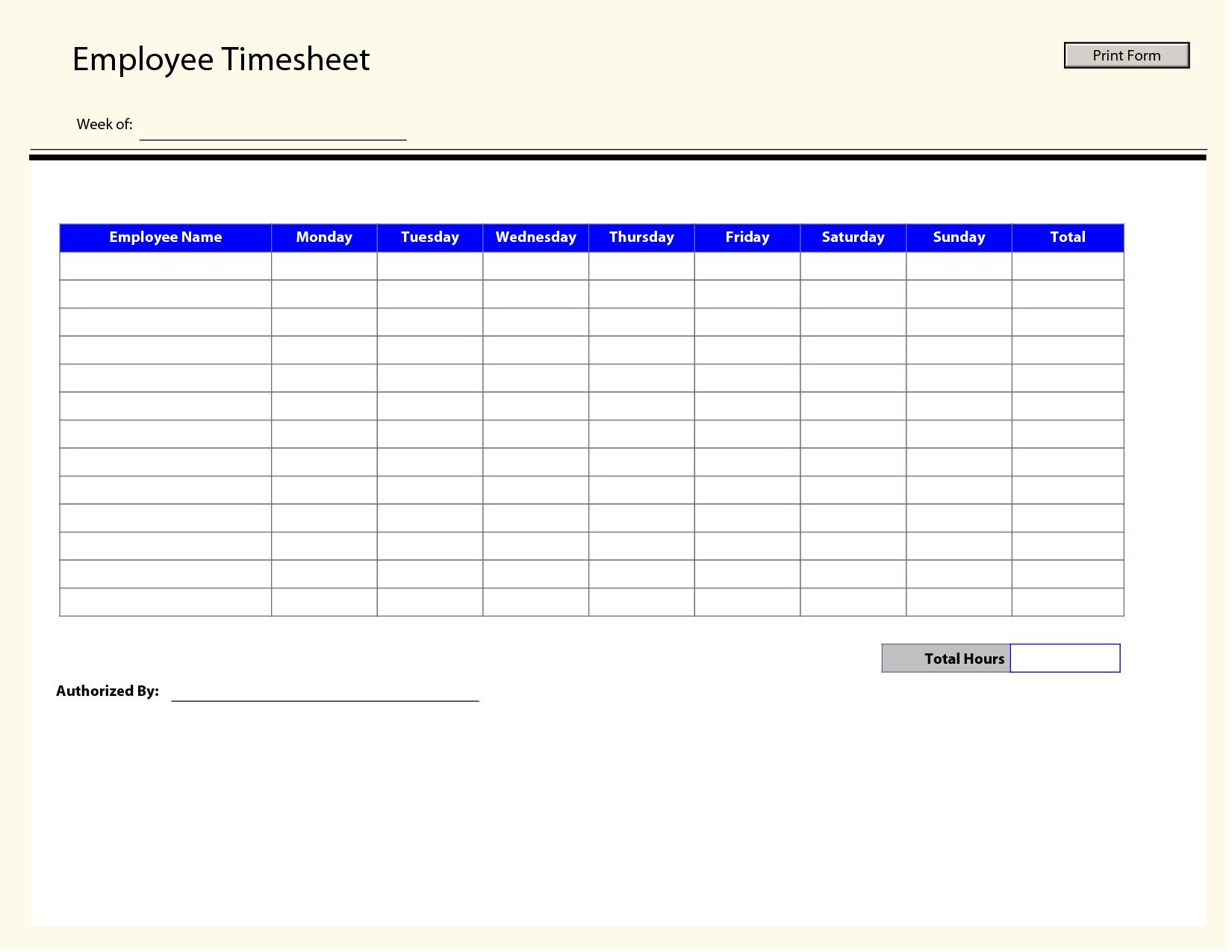 Timesheet Template Free Printable   Rota Template - Free Printable Time Cards