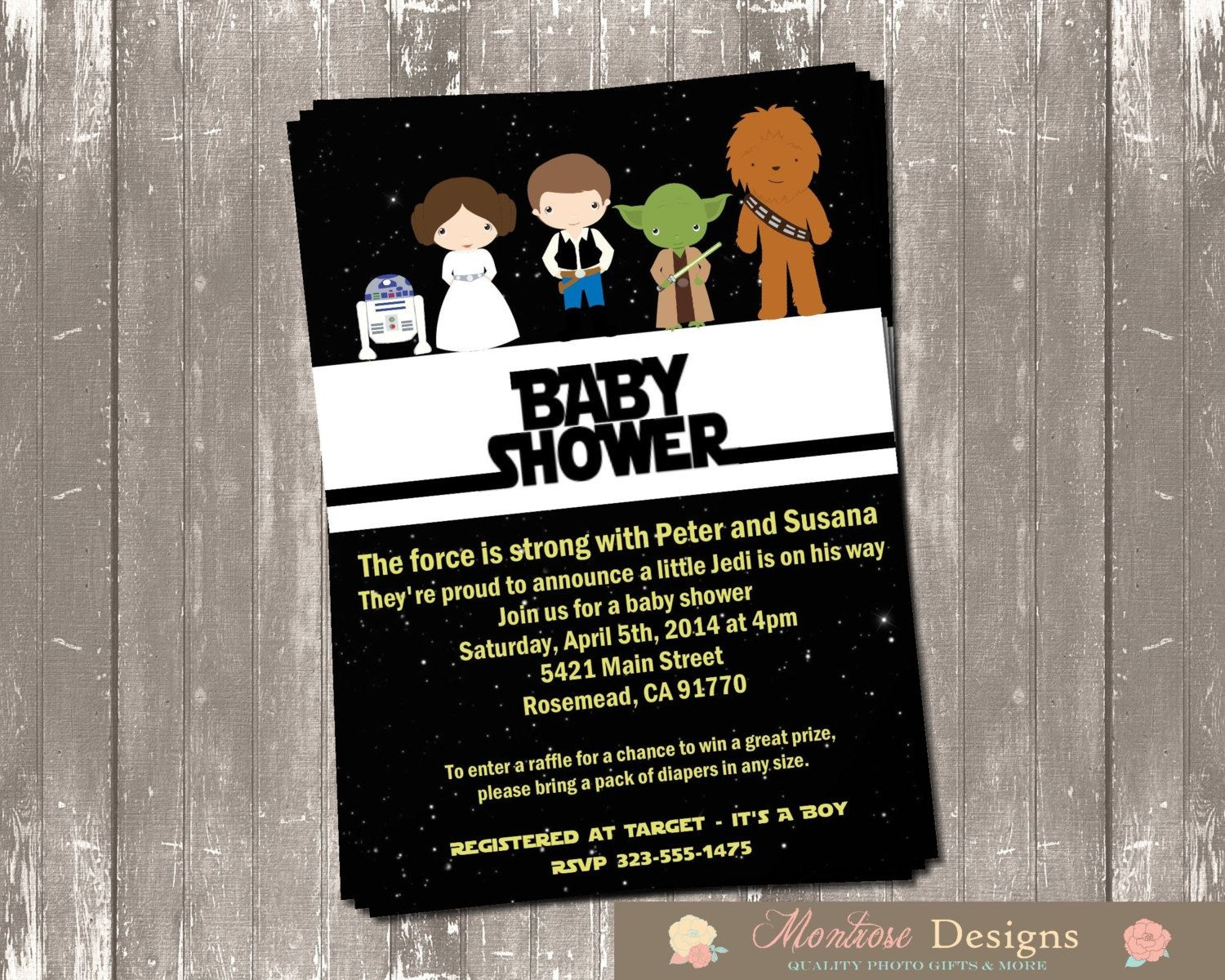 Tips Easy To Create Star Wars Baby Shower Invites Free Templates - Free Printable Star Wars Baby Shower Invites