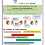 Tongue Twister Fun Worksheet   Free Esl Printable Worksheets Made   Free Printable Tongue Twisters