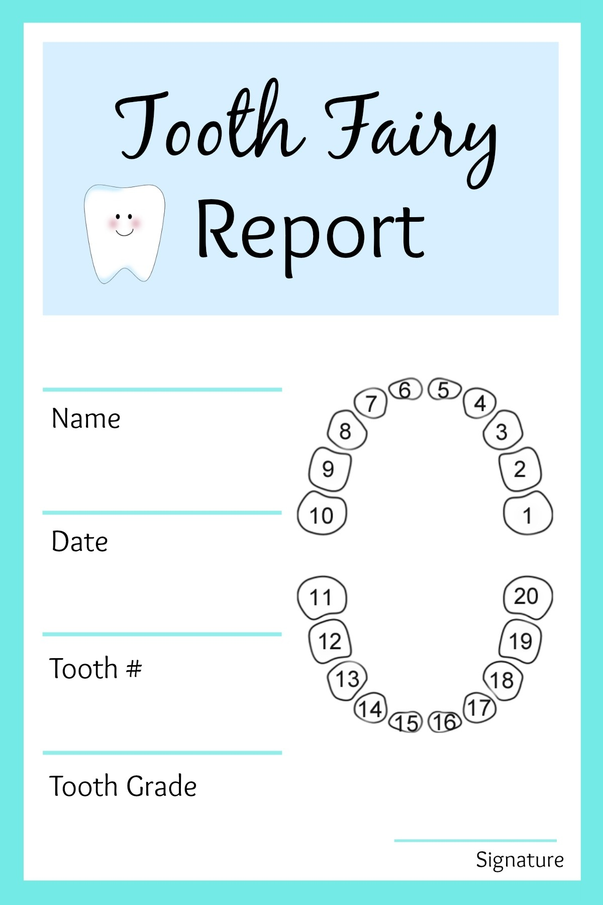 Tooth Fairy Ideas And Free Printables: Tooth Fairy Letterhead Report - Tooth Fairy Stationery Free Printable
