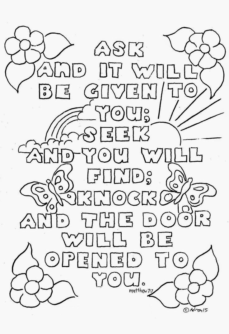 Top 10 Free Printable Bible Verse Coloring Pages Online | Coloring - Free Printable Bible Coloring Pages With Scriptures