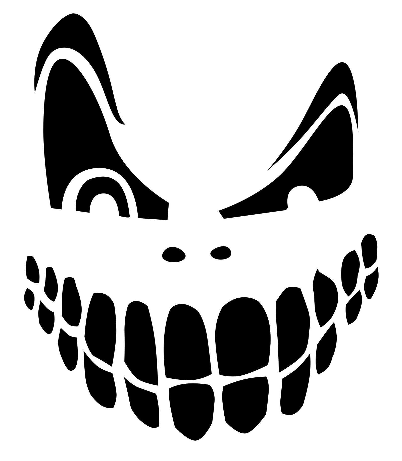 Top 100+ Jack O Lantern Faces Patterns Stencils Ideas   Halloween - Pumpkin Patterns Free Printable