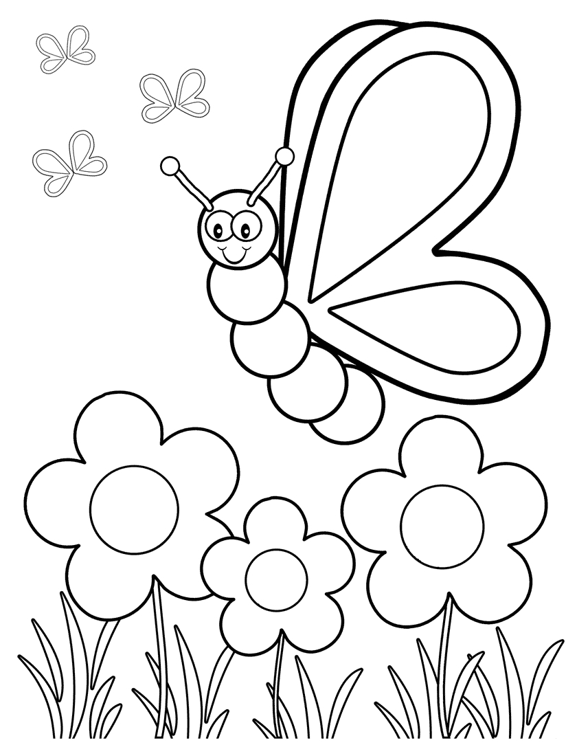 Top 50 Free Printable Butterfly Coloring Pages Online | Coloring - Spring Coloring Sheets Free Printable