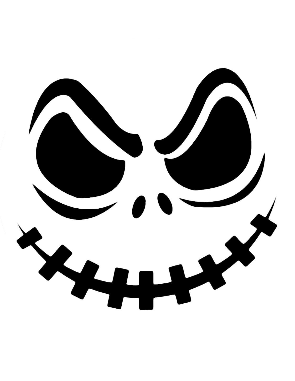 Top Printable Scary Face Pumpkin Carving Pattern Design Stencils - Pumpkin Patterns Free Printable