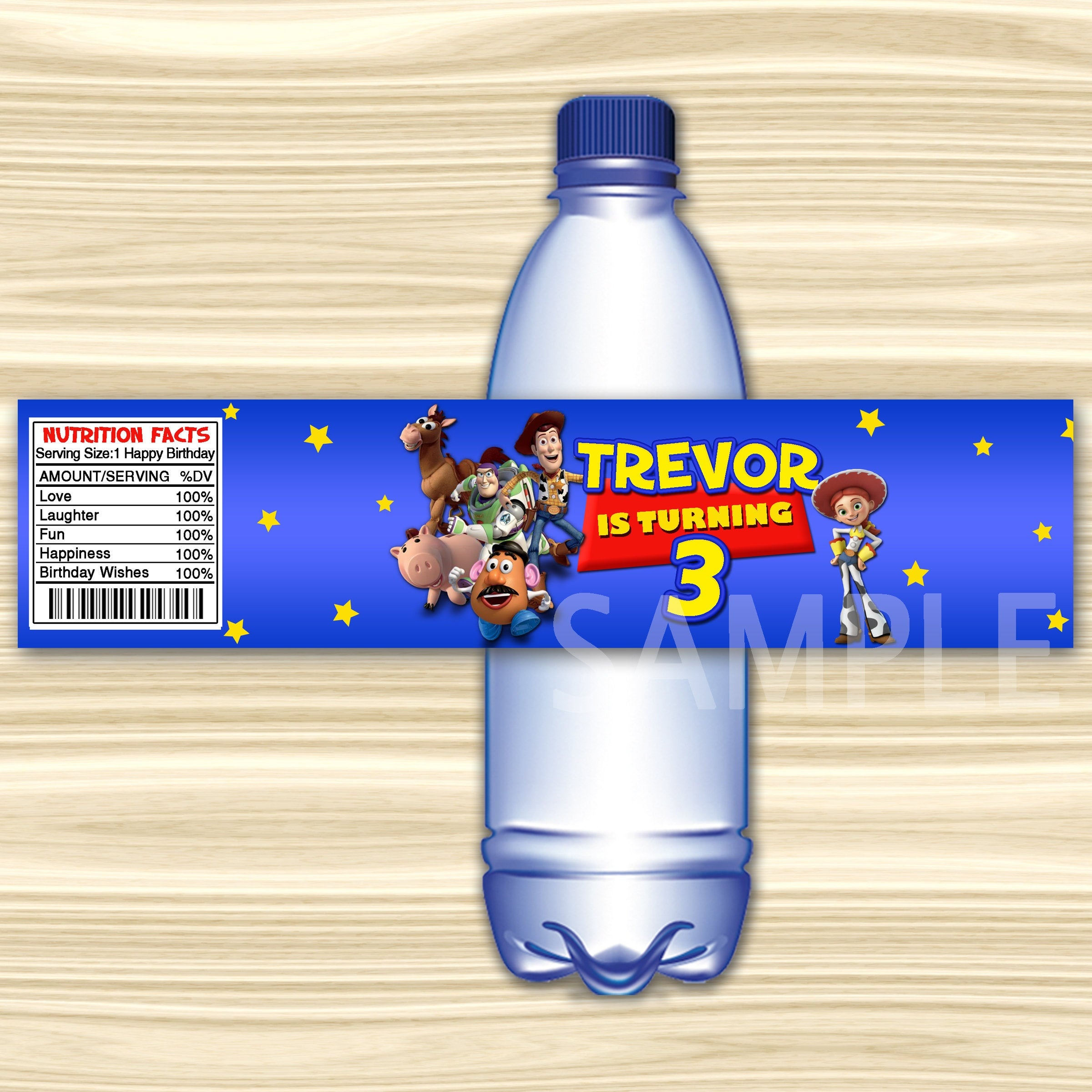 Toy Story Bottle Label.toy Story Water Label. Diy Toy Story   Etsy - Free Printable Toy Story Water Bottle Labels