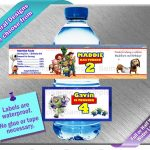 Toy Story Buzz Lightyear ~ Water Bottle Labels ~ Birthday Party Baby   Free Printable Toy Story Water Bottle Labels