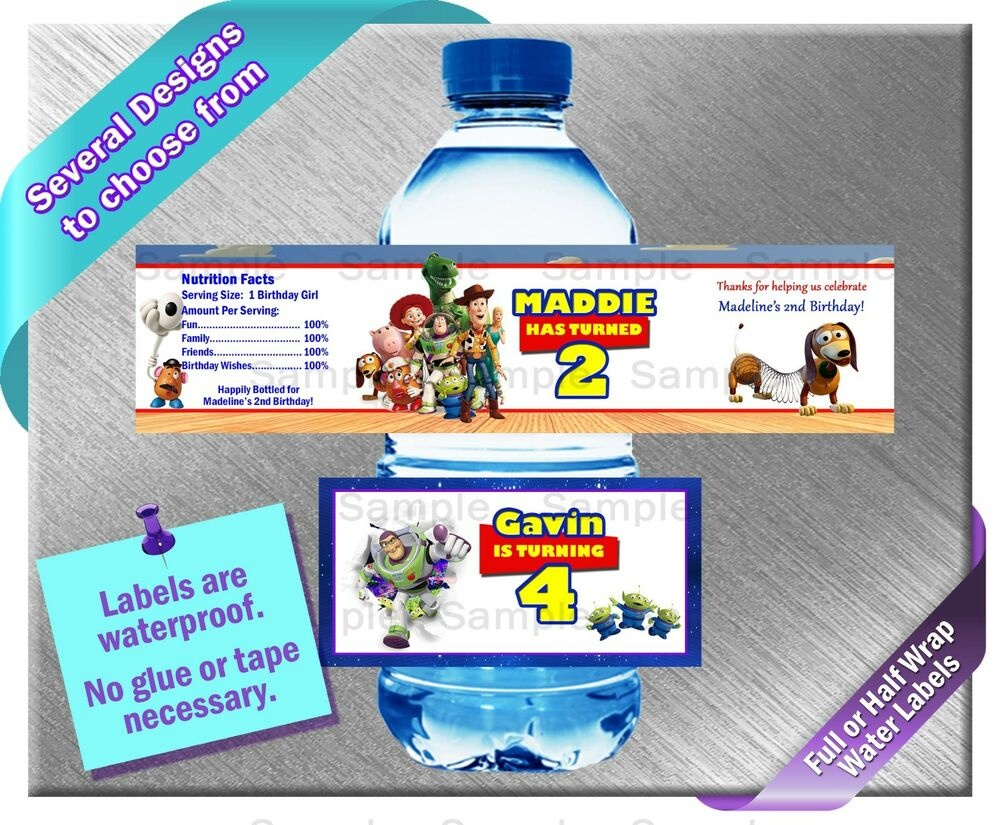 Toy Story Buzz Lightyear ~ Water Bottle Labels ~ Birthday Party Baby - Free Printable Toy Story Water Bottle Labels