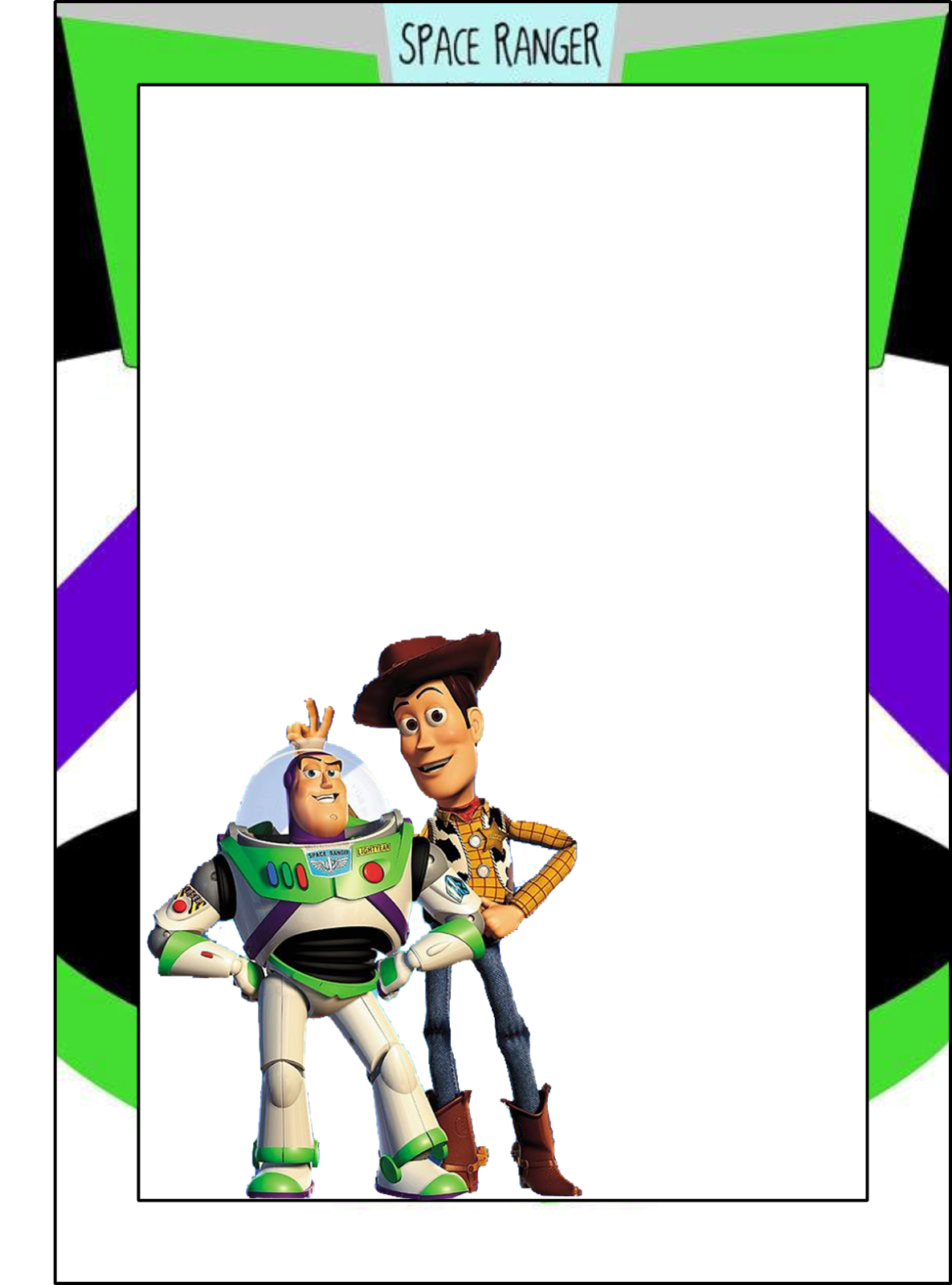 Toy Story: Free Printable Frames, Invitations Or Cards.   Dylans 2Nd - Free Printable Toy Story 3 Birthday Invitations