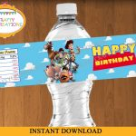 Toy Story Water Bottle Labels Printable Toy Story Birthday   Etsy   Free Printable Toy Story Water Bottle Labels