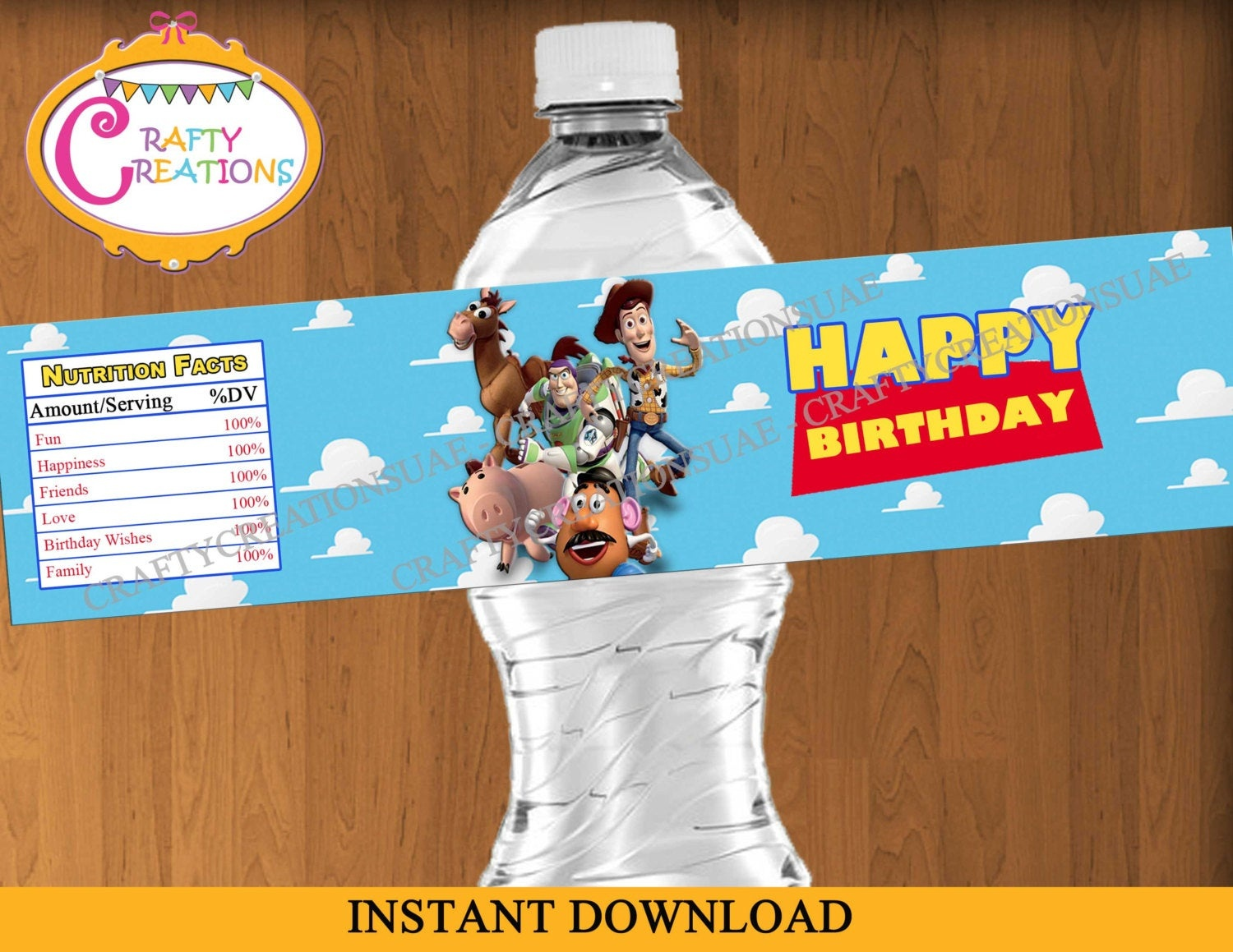 Toy Story Water Bottle Labels Printable Toy Story Birthday   Etsy - Free Printable Toy Story Water Bottle Labels