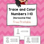 Trace And Color Number Pages Free Printable | Daycare Organization   Free Printable Learning Pages