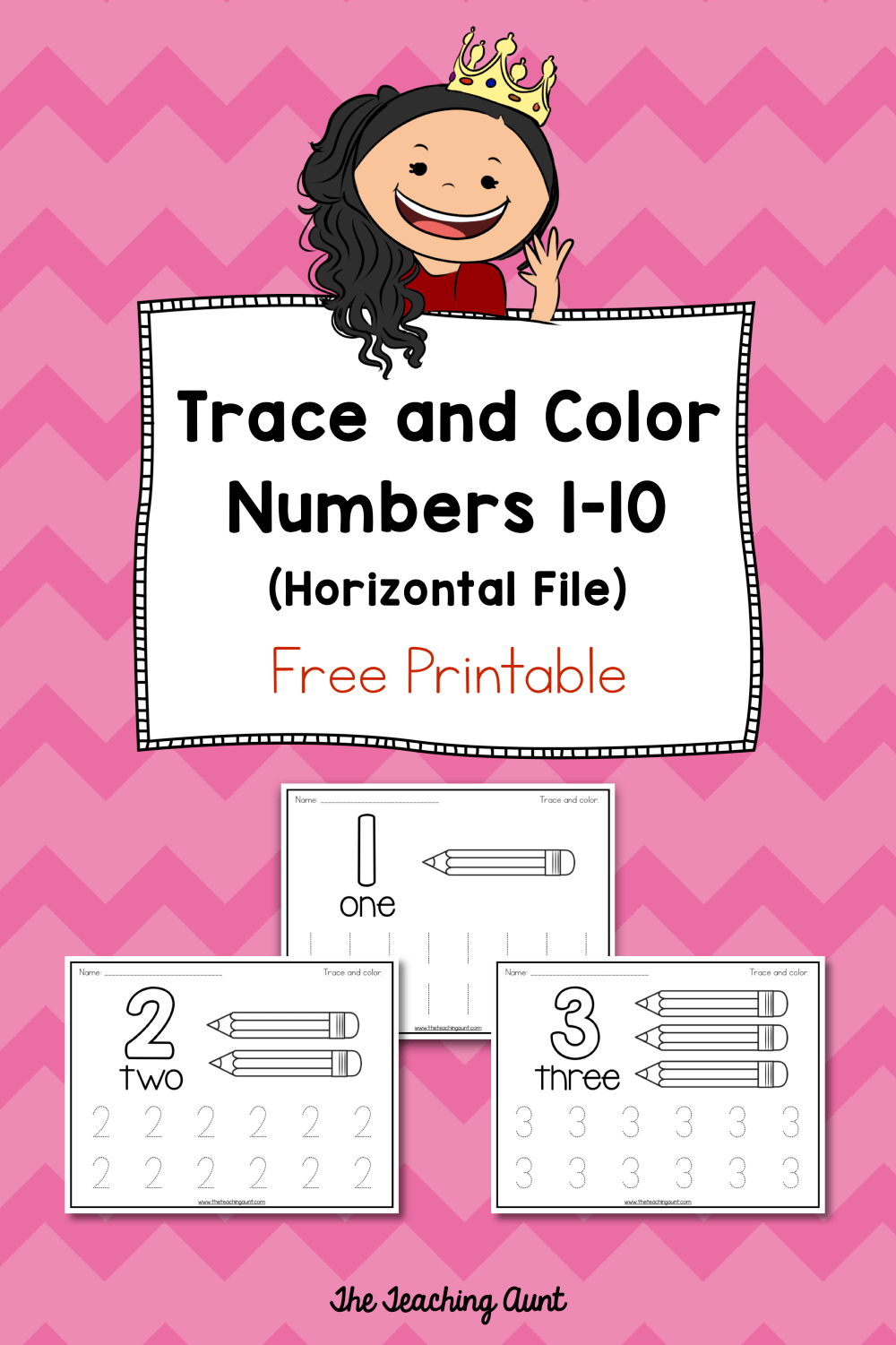 Trace And Color Number Pages Free Printable | Daycare Organization - Free Printable Learning Pages