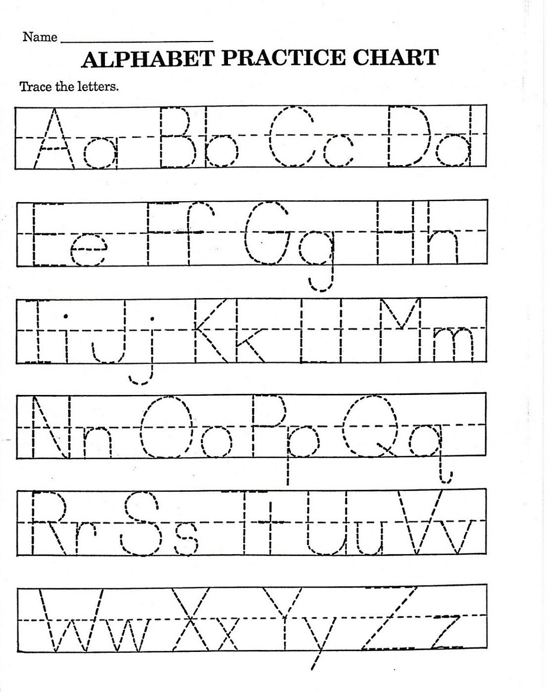 Trace Letter Worksheets Free | Reading And Phonics | Pre K Math - Preschool Writing Worksheets Free Printable