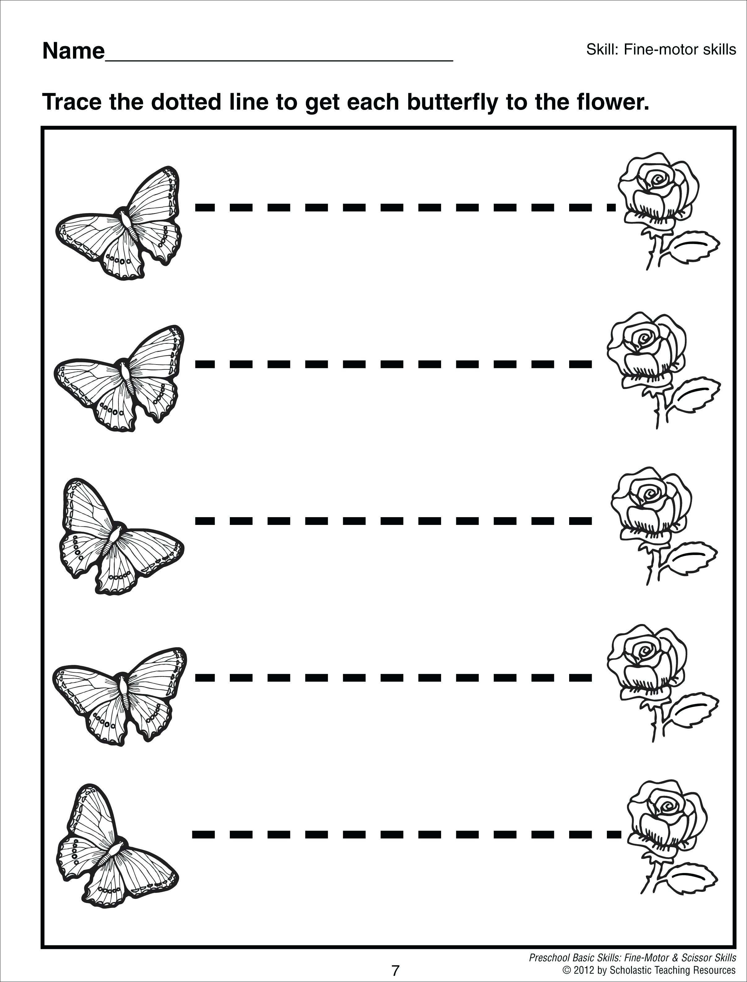 Tracing The Line Free Printable Line Tracing Worksheets Tracing - Free Printable Preschool Worksheets Tracing Lines
