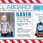 Train Birthday Invitation Templates Free   Invitations Design   Thomas Invitations Printable Free