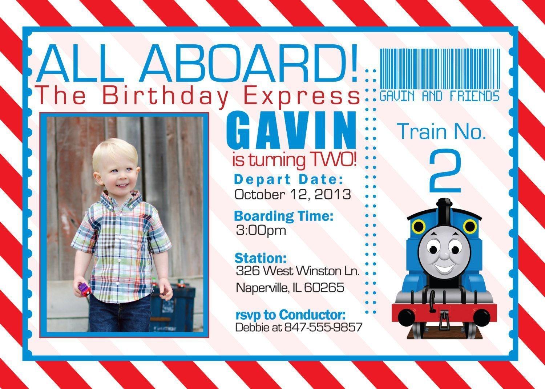 Train Birthday Invitation Templates Free - Invitations Design - Thomas Invitations Printable Free
