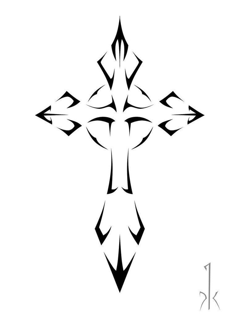 Tribal Cross Tattoo Sample   Tattoobite   Tribal Tattoo   Tribal - Free Printable Cross Tattoo Designs