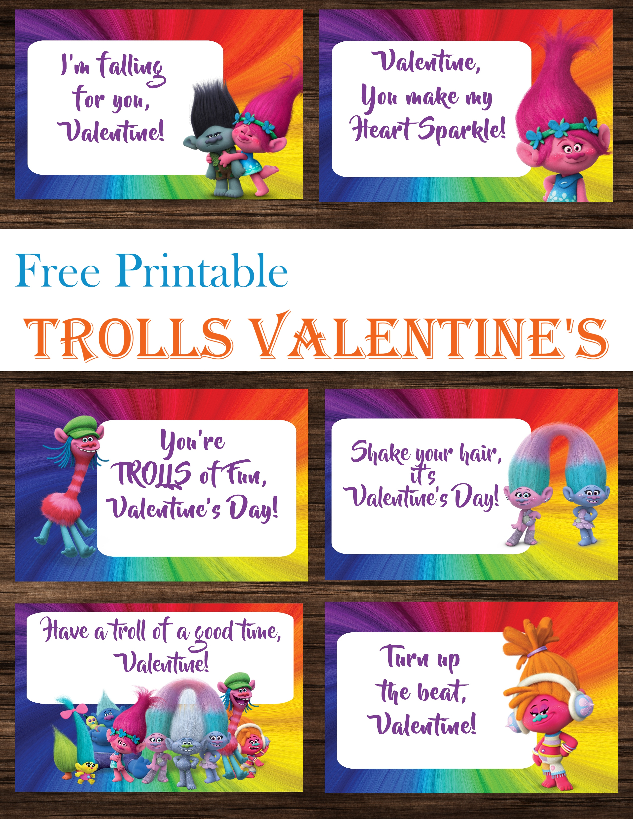 Trolls Valentine's Day Cards Free Printables - Printables 4 Mom - Free Printable Trolls